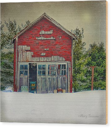 Wood Print featuring the photograph Rustic Shed by Mary Timman