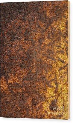 Rusty Background Wood Print by Carlos Caetano