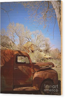 Wood Print featuring the photograph Rusty Beauty by Tanya  Searcy