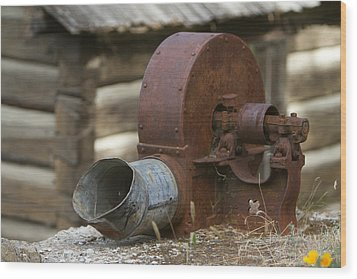 Rusty Blower Wood Print by JoJo Photography