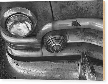 Rusty Cadillac Detail Wood Print by Lyle Hatch