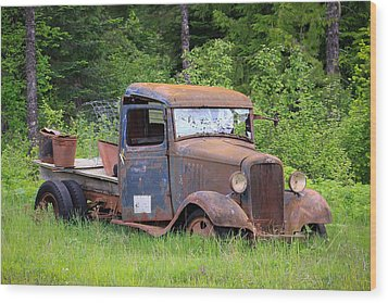 Wood Print featuring the photograph Rusty Chevy by Steve McKinzie