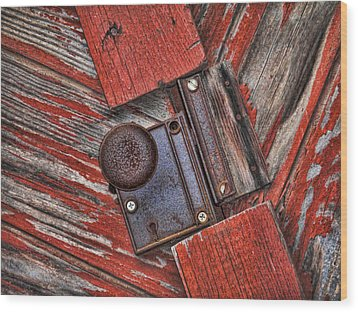 Rusty Dusty And Musty Wood Print by Kathy Clark