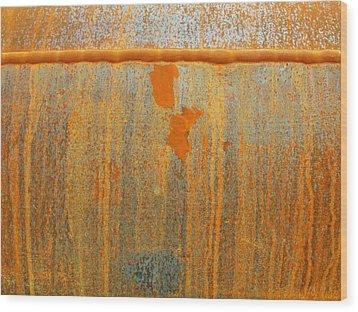 Rusty Lines I Wood Print by Anna Villarreal Garbis