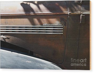 Rusty Old 1939 Chevrolet Master 85 . 5d16199 Wood Print by Wingsdomain Art and Photography
