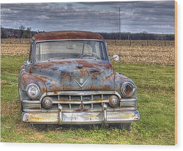 Rusty Old Cadillac - Torcwori Wood Print