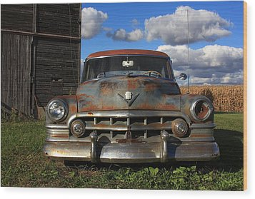 Rusty Old Cadillac Wood Print by Lyle Hatch