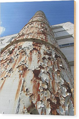 Rusty Tower Wood Print by Todd Sherlock