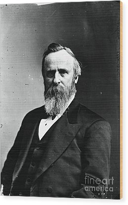 Rutherford B. Hayes, 19th American Wood Print by Photo Researchers