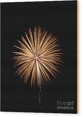 Wood Print featuring the photograph Rvr Fireworks 27 by Mark Dodd