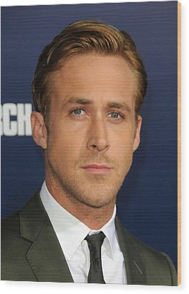 Ryan Gosling At Arrivals For The Ides Wood Print by Everett