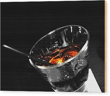 Rye And Coke Please Wood Print by Jerry Cordeiro