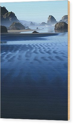 S Ecola Oregon Wood Print by Steven A Bash