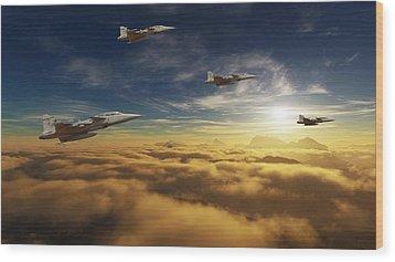 Sa Air Force Iron Eagles Wood Print by Nicole Champion
