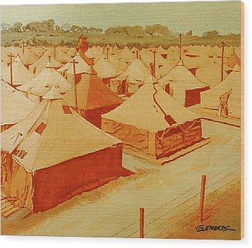 Saad Mural Panel 3 Wood Print by Dean Gleisberg