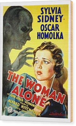 Sabotage, Aka The Woman Alone, Oscar Wood Print by Everett