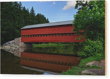 Wood Print featuring the photograph Sachs Bridge Gettysburg Pa by Brian Hughes