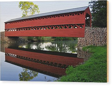 Wood Print featuring the photograph Sachs Covered Bridge by Dan Myers