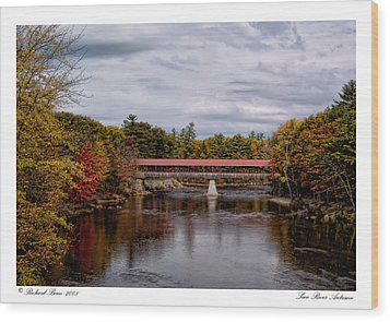 Wood Print featuring the photograph Saco River Autumn by Richard Bean