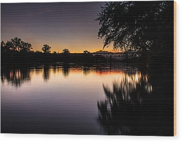 Wood Print featuring the photograph Sacramento River Sunset by Randy Wood