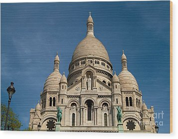 Wood Print featuring the photograph Sacre Coeur Cathedral by Kim Wilson