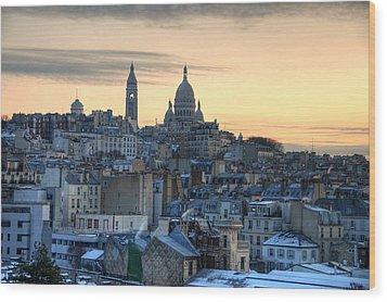 Sacre Coeur, Paris Wood Print by Richard Fairless