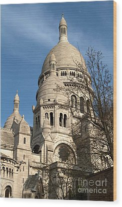 Wood Print featuring the photograph Sacre Coeur Tower by Kim Wilson