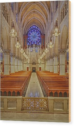 Sacred Heart Cathedral Basilica Wood Print by Susan Candelario