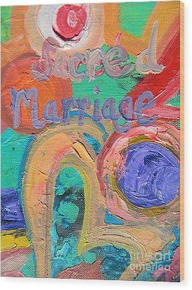 Sacred Marriage Wood Print