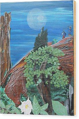 Sacred Moon Wood Print