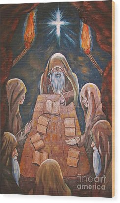 Sacred Tradition Wood Print by Judy Via-Wolff