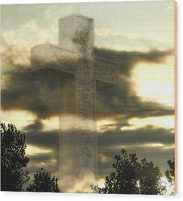 Sacrifice Wood Print by Raymond Earley
