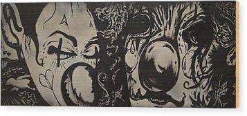 Sad Clowns Wood Print by Travis Burns