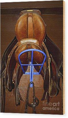 Saddles Wood Print by Elena Elisseeva