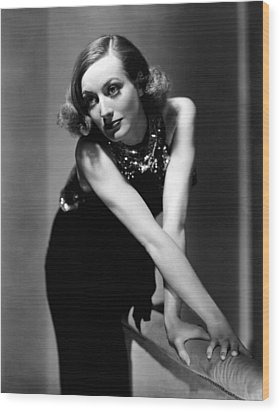 Sadie Mckee, Joan Crawford, 1934 Wood Print by Everett