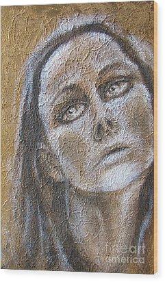 Sadness Wood Print