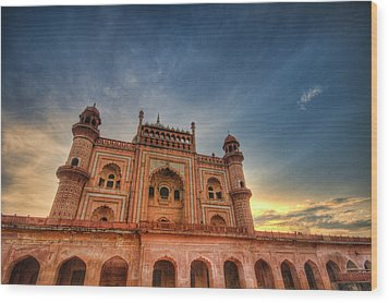 Safdarjung's Tomb Wood Print by Sudiproyphotography