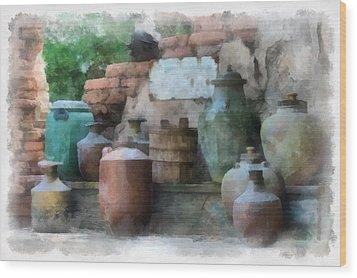 Safe Water For Travellers Wood Print by Matt Matthews