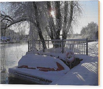 Safe Winter Wood Print