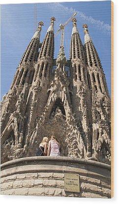Sagrada Familia Church - Barcelona Spain Wood Print by Matthias Hauser