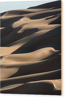 Sahara Sand Shadows Wood Print by Joe & Clair Carnegie / Libyan Soup