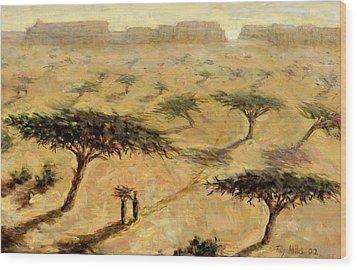 Sahelian Landscape Wood Print by Tilly Willis