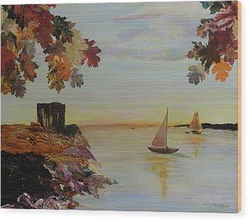 Sail Away Wood Print by Terry Honstead