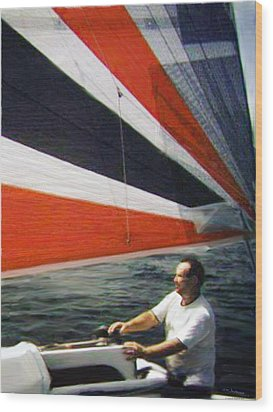 Sail Away Wood Print by Walt Jackson