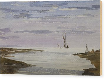 Wood Print featuring the painting Sail On By by Rob Hemphill