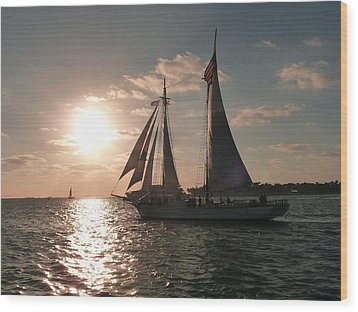 Wood Print featuring the photograph Sailboat At Key West by Jo Sheehan