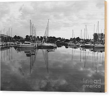 Wood Print featuring the photograph Sailboats At Bluffers Marina Toronto by Susan  Dimitrakopoulos