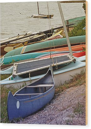 Sailboats Wood Print by Methune Hively