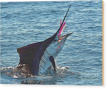 Sailfish Shake Wood Print by Alex Suescun