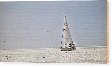 Sailing Wood Print by Anusha Hewage